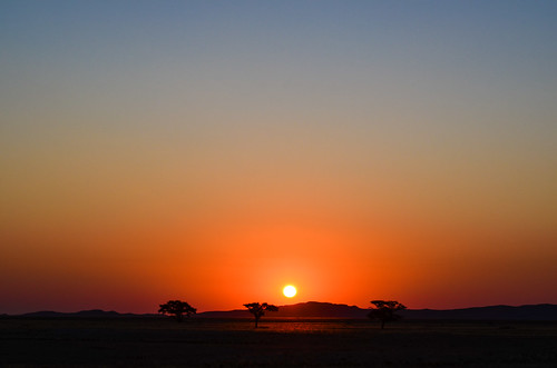 Sunset in the Namib-Naukluft park, Namibia
