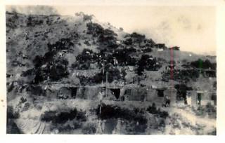 Hillside dugouts, Anzac Cove