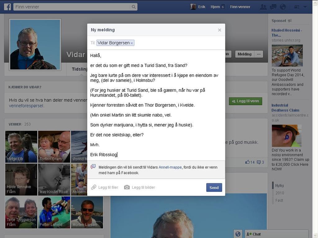 vidar borgersen facebook
