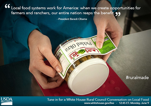 Tune in for a White House Rural Council Conversation on Local Food on Monday, June 9 at 12:45pm ET.