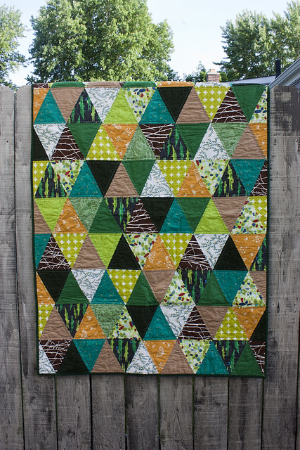Baby O's triangle quilt