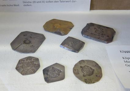 Burg Caslte klippe coin exhibit