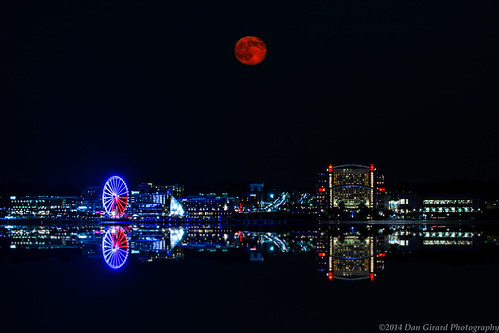 park sunset moon alexandria point landscape virginia jones cityscape unitedstates super 2014 dangirardphotography
