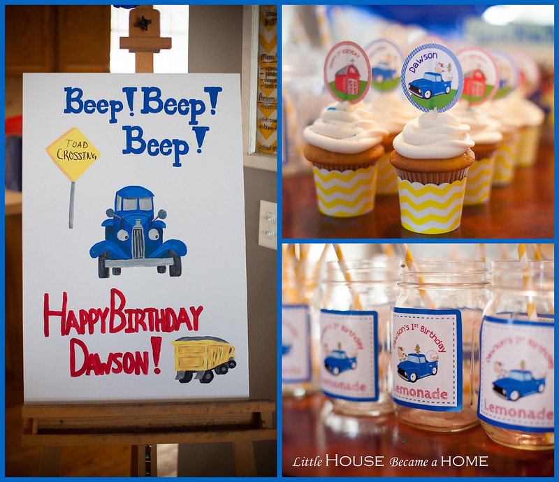 Little Blue Truck Birthday Logo