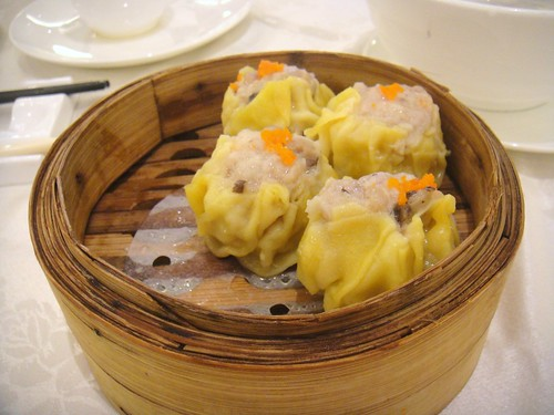 Steamed Shui Mai with Minced Shrimp and Rice