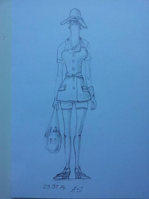 fashion illustration, safari style