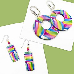 Fiesta Earrings polymer clay jewelry