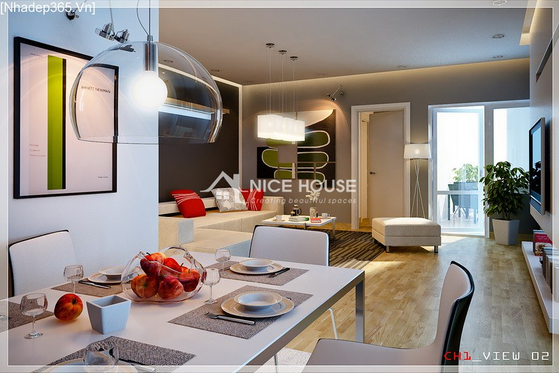 Thiết kế nội thất chung cư La Khê - Hà Nội_3
