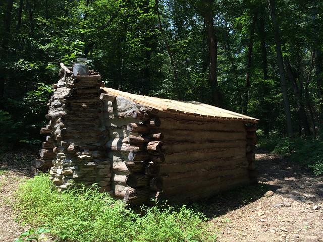 Log cabin, Morven Park