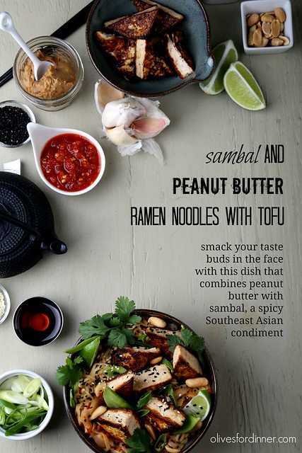 Sambal and Peanut Butter Ramen Noodles with Tofu