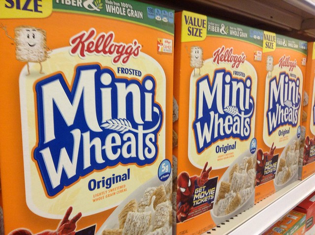 Kellogg's cereal is one example of big label consumer packaged goods.