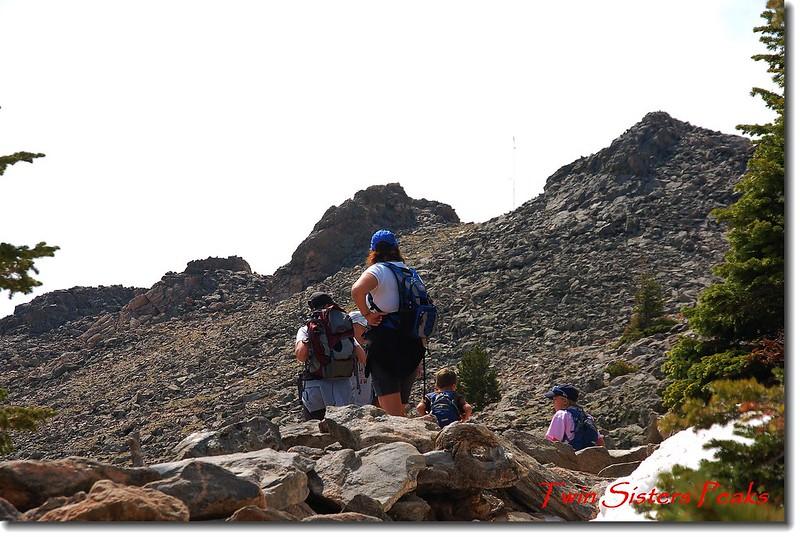 剛出森林線仰望Twin Sisters山頂 1