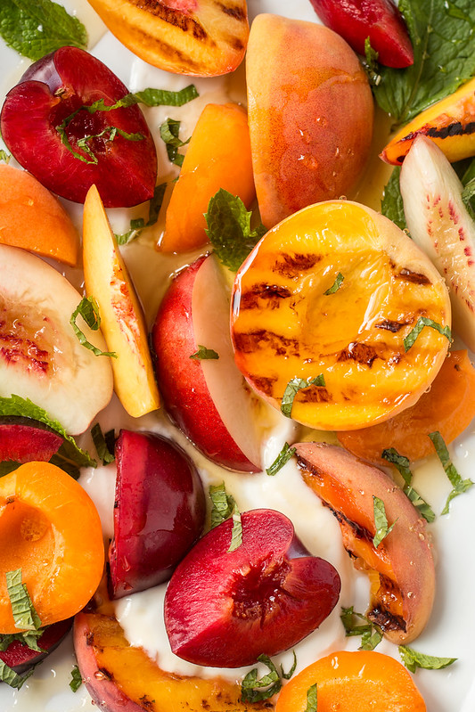 Stone Fruit Salad with Yogurt, Honey, and Mint | Will Cook For Friends