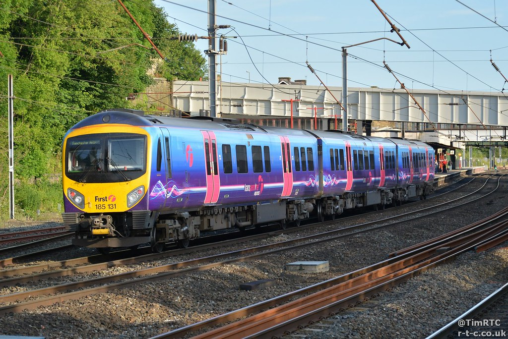 185131 heading for Manchester Airport
