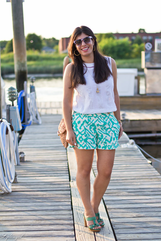 mint ikat shorts, white eyelet top.jpg
