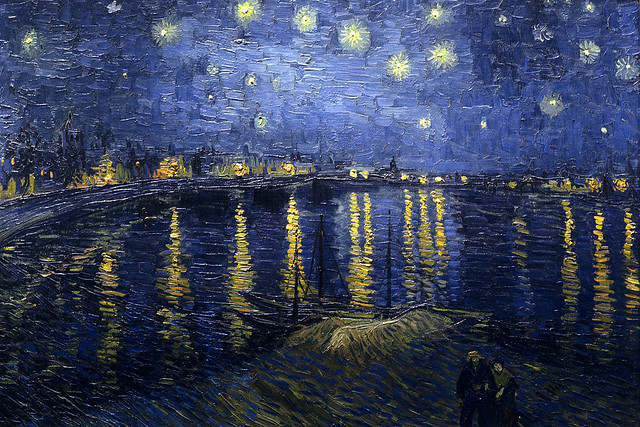 Starry Night over the Rhône by Vincent Van Gogh, 1888