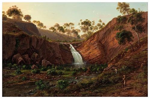 006-Cascada en el rio Clyde (Tasmania)- - Eugen von Guerard-1877- Wikimedia Commons