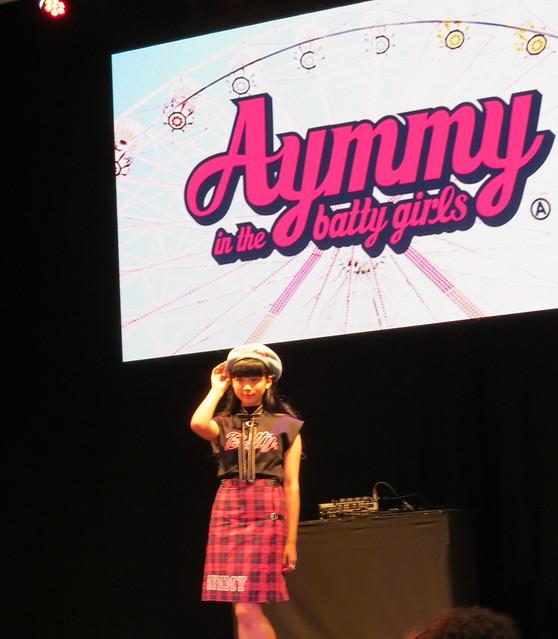 Aymmy in the batty girls fashion show