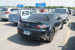 automobile, automotive exterior, wheel, vehicle, automotive design, mazda, bumper, land vehicle, luxury vehicle, mazda rx-8, sports car,