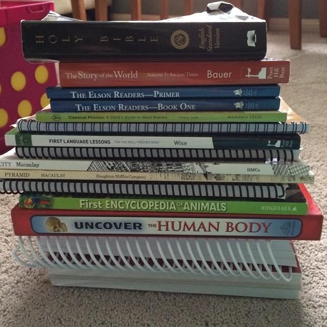 Annnnnnd nearly all 1st grade books. #homeschool