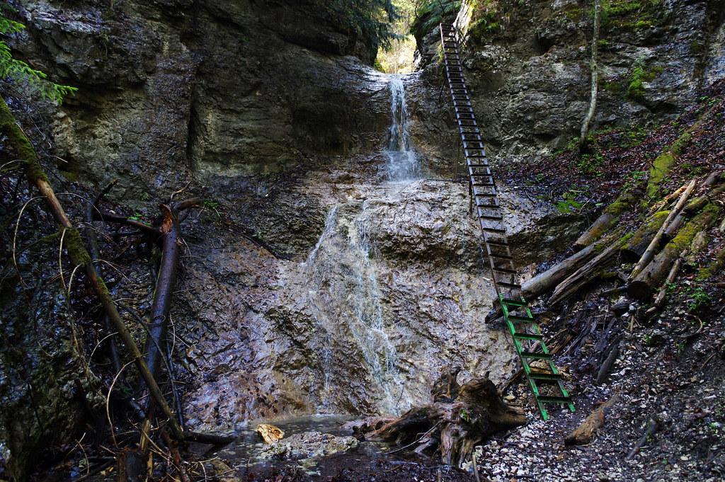 Veľký vodopád waterfall in Piecky gorge