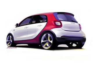 smart forfour, W53, Design