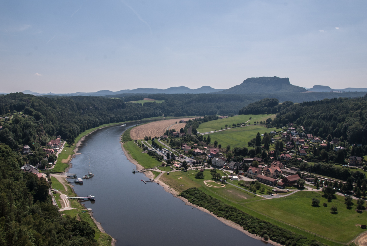 Ausblick bei der Bastei Richtung Königstein