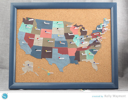 US Map Decor by Kelly Wayment for Silhouette