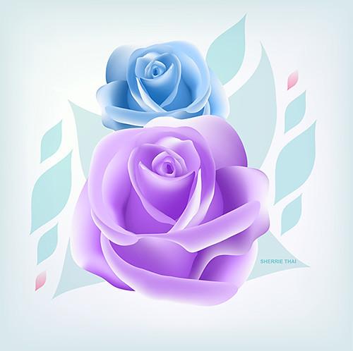Elegant Roses Art