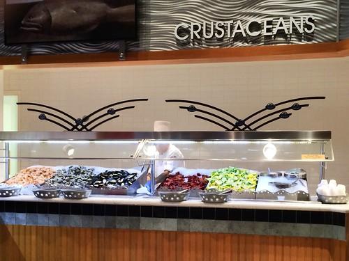 Crustaceans station, Village Seafood Buffet, Rio #LasVegas