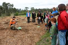 demonstrating planting a tree at Fawkner -IMG_7784