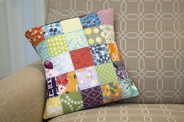 Scrappy Patchwork pillow 2