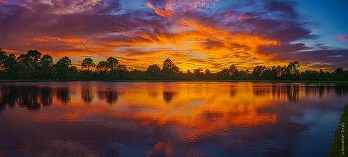 sunset summer sky orange lake water yellow clouds reflections landscape landscapes cloudy lakes sunsets g5 blueskies brightcolors skyscapes ponds hdr goldenhour fireinthesky skycandy cloudsonfire 5xp hdrphotography 5exposures millerville skypainter myflorida cloudsstormssunsetssunrises sunsetmadness sunsetsniper