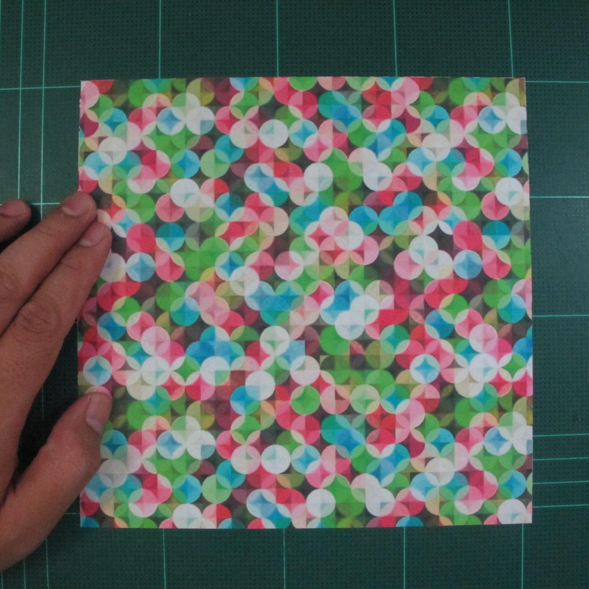 วิธีพับกล่องของขวัญแบบมีฝาปิด (Origami Present Box With Lid) 001