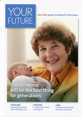 'Your Future. Your free guide to Scotland's referendum' Yes Scotland booklet