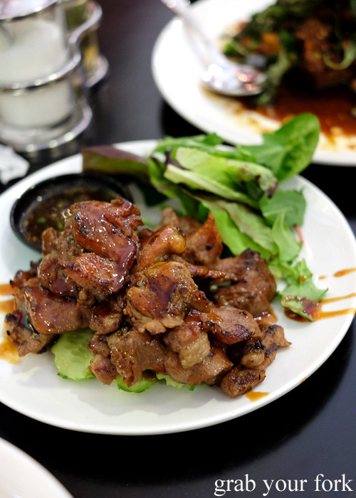 Barbecue pork neck at Do Dee Paidang, Haymarket Chinatown Sydney