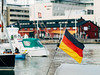 Germany flag in the harbour