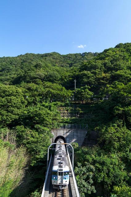 眼下の鉄 : 勝沼ぶどう郷駅付近。
