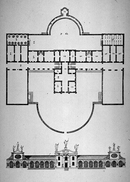Pianta Villa Barbaro - I 4 libri dell'architettura