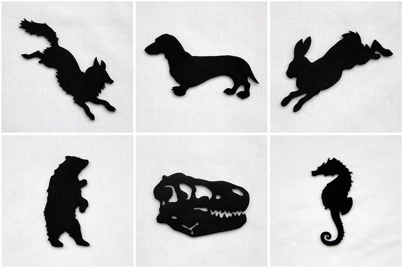 Silhouette Brooches