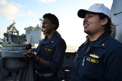 PACIFIC OCEAN - The Arleigh Burke-class guided-missile destroyer USS Pinckney (DDG 91) welcomed 19 midshipmen, from various ROTC programs as well as the U.S. Naval Academy, on board the ship the first part of August as part of their summer training cruise.