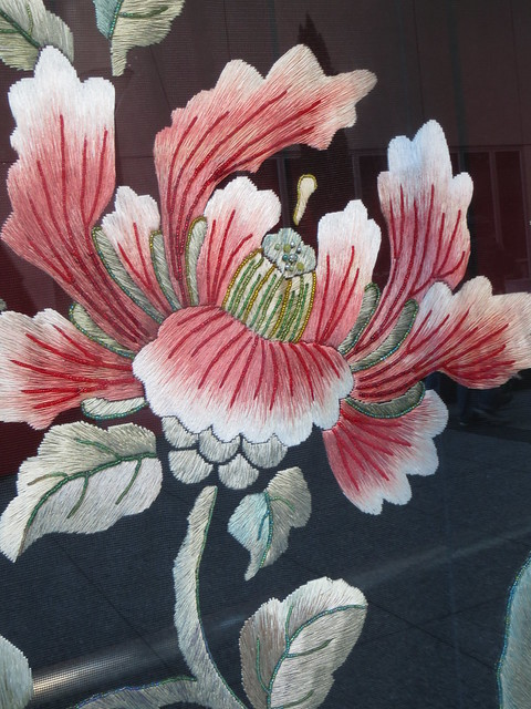 Peony Flower in Embroidery