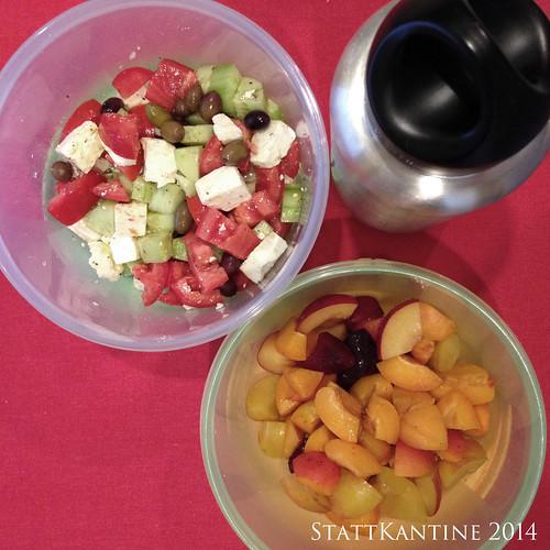 StattKantine 26.09.14 - Griechischer Salat, Obst