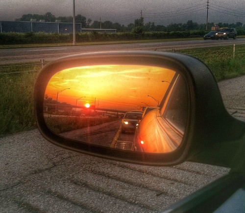 blue columbus ohio orange sunrise grey mirror traffic jam hdr iphone 614 70w howardtj snapseed 614artists