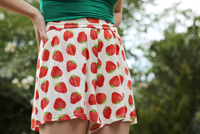 Strawberry Print Shorts from Boohoo.com
