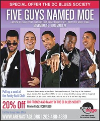 Blues Fan Discount - Arena Stage Five Guys Named Moe 20% Discount