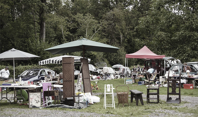Local brocante market at Bagnoles-de-l'One