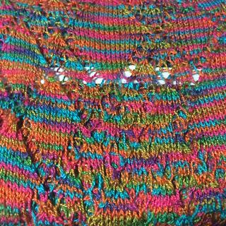 2014.09.20 : Lapidarius scarf. Knitting complete. Unblocked.
