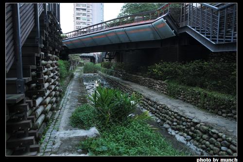 台北。瑠公圳 當流經社區的水圳,水質乾淨清澈。圖片來源:munch