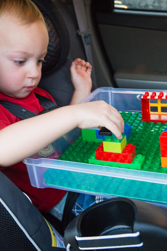 Car Seat Activity Kit with Legos